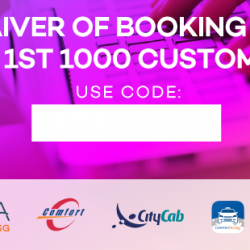ComfortDelGro: Waiver of Booking Fee For 1st 1000 Customers