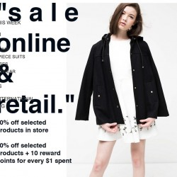 OSMOSE Singapore: 50% off selected at all retail outlets & 40% off selected online