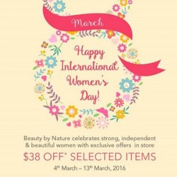Beauty By Nature: Up to S$38 OFF to celebrate International Women's Day