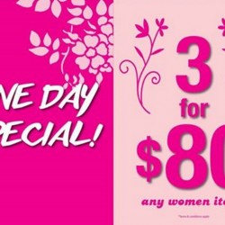 GIORDANO Singapore: International Women's Day special! Any 3 women items @ $80