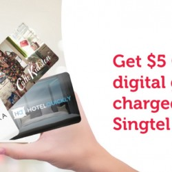 Singtel: S$5 off any digital gift card of your choice @ Singtel Online Gifts
