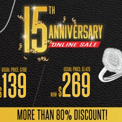 Lazada: Taka Jewellery's 15th Anniversary Online Sale Up to 80% OFF
