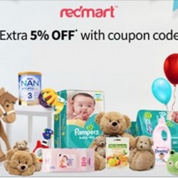 Redmart: Up to 60% OFF Baby & Child Essentials + Extra 5% OFF with Code