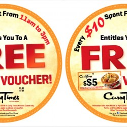Curry Times: $5 Voucher with Every $10 Spent at Novena Square & Westgate