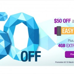 Singtel: Easy Mobile Plan Promotion --- $50 OFF All Phones with Promo Code + Up to 4GB Extra Data FREE