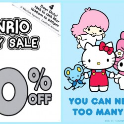 Marina Square: Sanrio Crazy Sale Up to 90% OFF