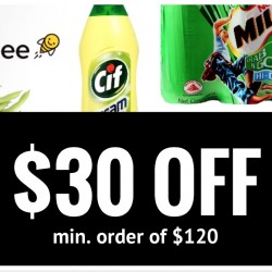 Honestbee: $30 OFF with Min. Order of $120