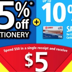 Popular: Super Holiday Sale 15% OFF Stationery + $5 Voucher