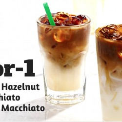 Citibank: 1-for-1 Starbucks Chocolate Hazelnut Macchiato or Caramel Macchiato
