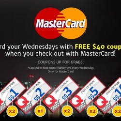 Qoo10: Free $40 Coupons with MasterCard on Wednesday