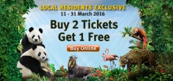 River Safari: Buy 2 admission tickets and get 1 free
