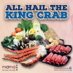 Momiji Japanese Buffet Restaurant: All Hail the King Crab Promotion