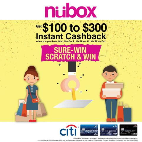 Nübox: win Instant Cashback of S$100 to S$300 at IT Show 2016