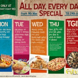 Fish & Co. Singapore: Weekday Special Promotion -- 5 days of splashing deals!