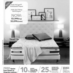 Sealy Singapore: Purchase our newly launched Sealy UniCased Posturepedic Inspire - Queen at $3,099! What's more, enjoy 10% savings on all