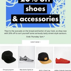 [ASOS] Shoes and Accessories Sale 20% OFF