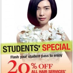 Hair Inn: STUDENTS' SPECIAL Promotion --- 20% OFF All Hair Services