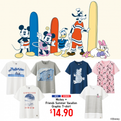 Uniqlo Singapore: Mickey and friends' Graphic T-shirt Promotion --- S$14.9