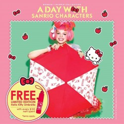 Bossini Singapore: Free Hello Kitty umbrella upon any nett purchase of $150 or above