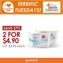 Guardian: Facial Cleansing Wipes pROMOTION