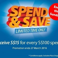 Howards Storage World: Spend & Save Campaign --- Receive S$15 for every S$100