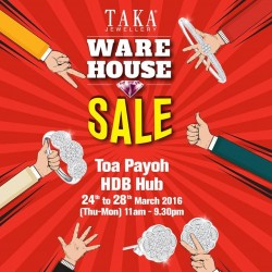 Taka Jewellery Treasures: Warehouse Sale at Toa Payoh HDB Hub