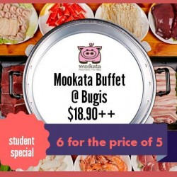 Mookata Thai BBQ @ Bugis: Ala Carte Buffet Promotion --- 1 Free with 6 Dinners