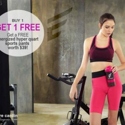 Pierre Cardin: Energized sports bra Promotion -- free Energized hyper quart sports pants with purchase