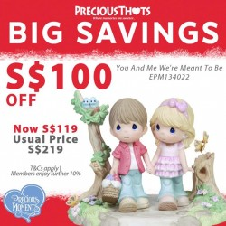 Precious Thots: up to 60% off on selected Precious Moments figurines