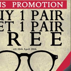 Spectacle Hut: Lens Promotion Buy 1 Pair Get 1 Pair Free