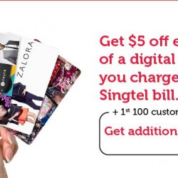 Singtel: Enjoy $5 OFF + Extra $15 OFF with every digital gift card purchase