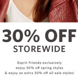 Esprit: 30% OFF Storewide for Esprit Friends + Extra 30% OFF All Sale Styles