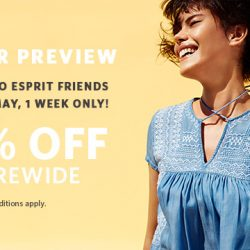 Esprit: Summer Preview - 30% OFF Storewide Exclusively for Esprit Friends