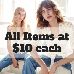 Zara: Parallel Imports Sale with Items at $10 each