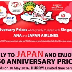 SJ50 Special Airline Promotion Campaign with Singapore Airlines, ANA and Japan Airlines