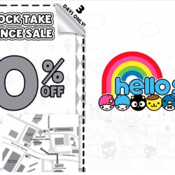 Sanrio: Pre-Stock Take Clearance Sale Up to 90% OFF Sanrio Gifts & Branded Toys