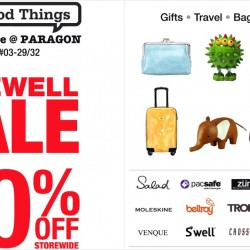 The Good Things: Pop-Up Store @Paragon Farewell Sale Up to 70% OFF Storewide