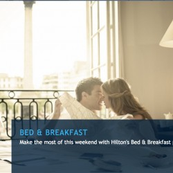 Hilton: Coupon Code for 30% OFF Bed and Breakfast at Hilton Singapore