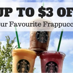 Starbucks: Up to $3 OFF Your Favourite Frappuccino Every Tuesday & Wednesday