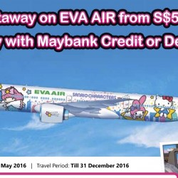Eva Air: Exclusive Maybank Card Airfare Promotion from $504 to Taipei, New York, Los Angeles and more