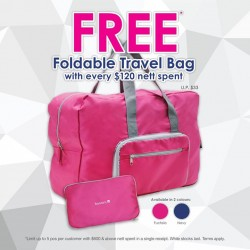 Bossini Singapore: free foldable travel bag with every S$120 nett spent