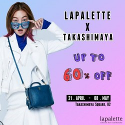 Takashimaya: Lapalette Promotion --- up to 60% OFF