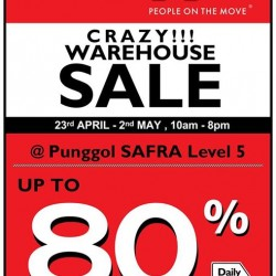 Kappa Warehouse Sale @ Punggol SAFRA -- Up to 80% OFF