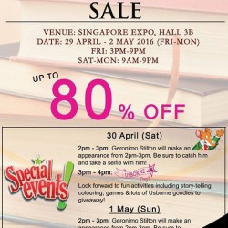 MPH: MPH BOOKS SALE is back @ Singapore Expo 2016