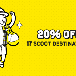 FlyScoot: Exclusive Amex Promo Code for 20% OFF 17 Scoot Destinations!