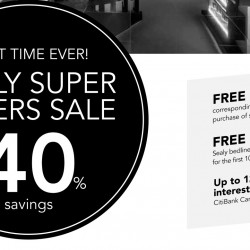 Sealy: First Ever Super Savers Sale up to 40% OFF