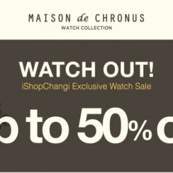 iShopChangi: Exclusive Watch Sale Up to 50% OFF