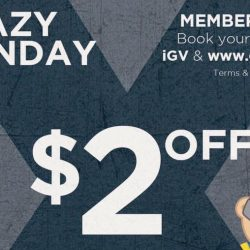 Golden Village: GV Movie Club Crazy Monday Promotion - $2 off your online movie tickets today!