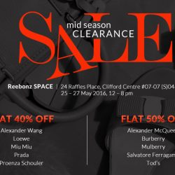 Reebonz: Mid Season Clearance Sale with Flat 50% OFF Alexander McQueen, Tod's, Burberry & more!