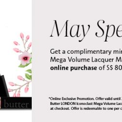 Sephora.sg: Coupon Code for a Free Butter London Iconoclast Mega Volume Lecquer Mascara on $80 spend